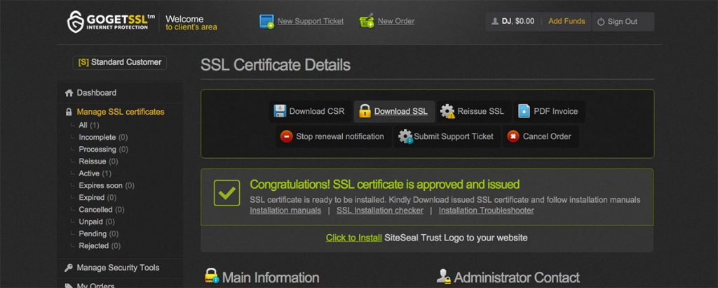 gogetssl download
