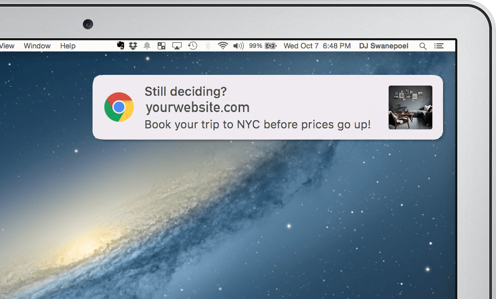 Travel Industry Loves Web Push Notifications